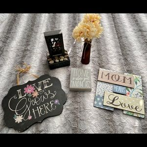"""Accents - 5-PIECE """"MOM"""" THEMED HOME DECOR SET"""